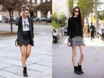 马丁靴搭配什么衣服或裙子好看 马丁靴配什么袜子?